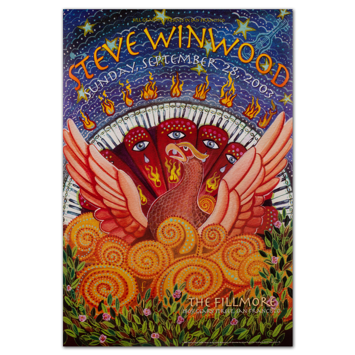 Fillmore steve winwood 9 28 2003 poster shop the for House music 2003