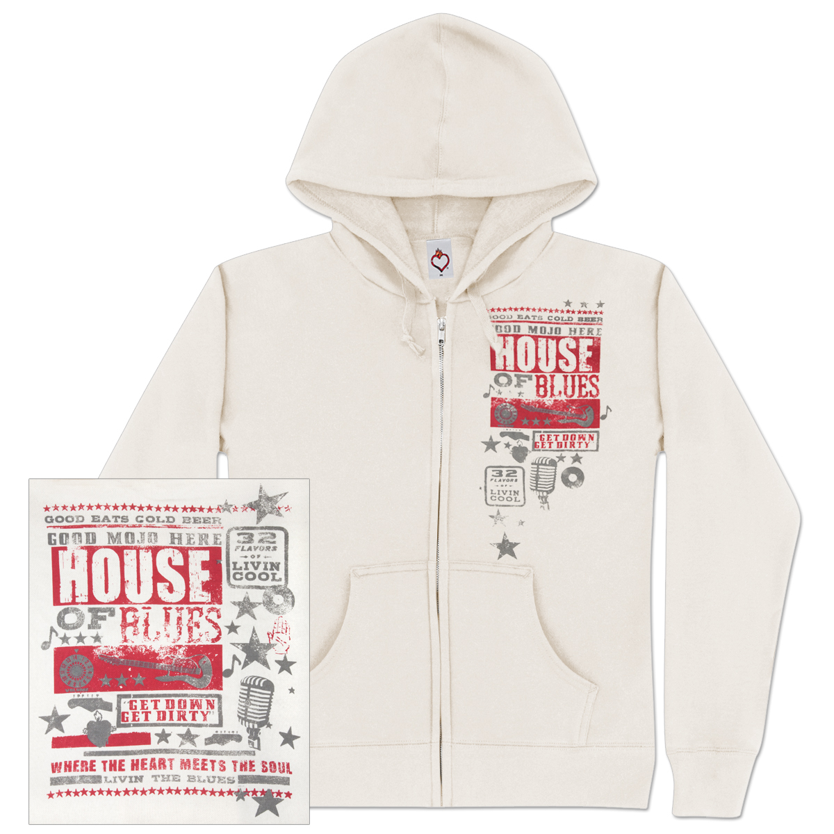 Cream Poster Hoodie