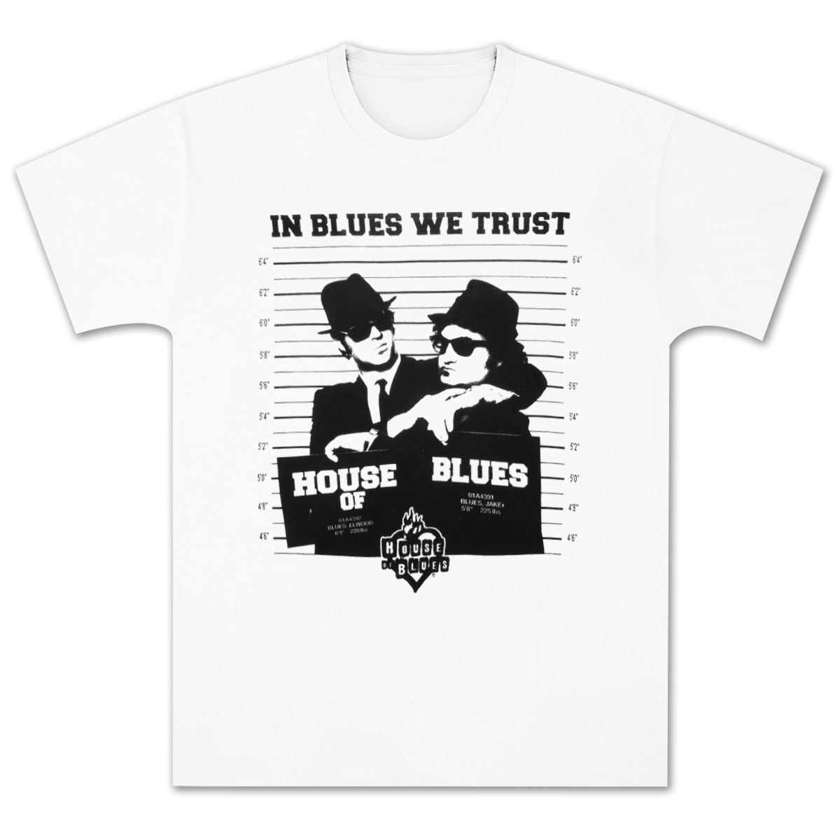 Jake and Elwood Mug Shot White T-Shirt