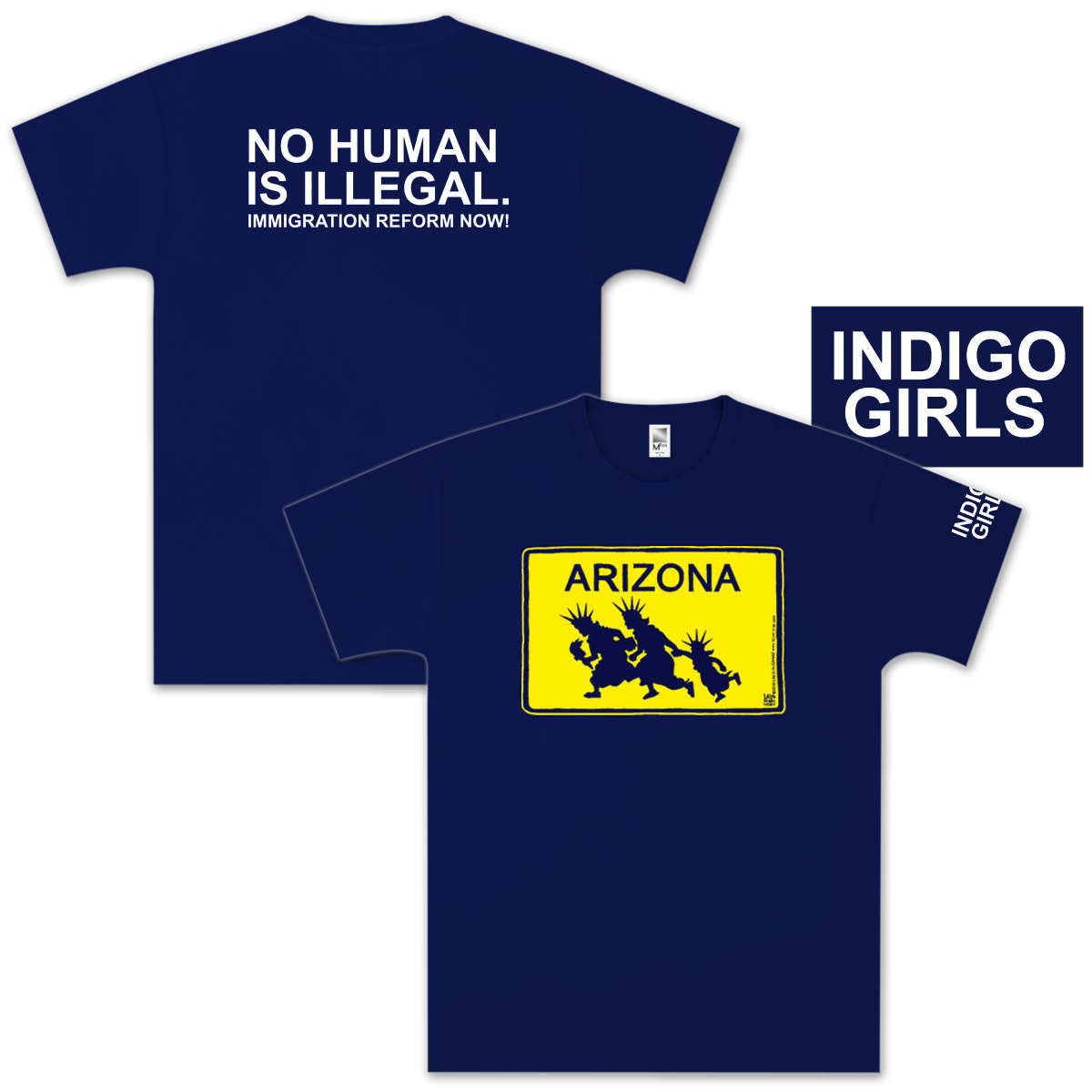 Indigo Girls TAKE ACTION TEESHIRTS! (Arizona)
