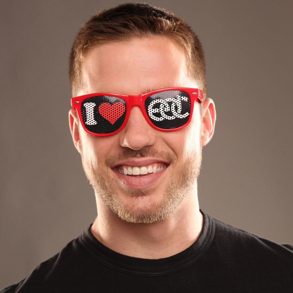 I Heart EDC Sunglasses Red