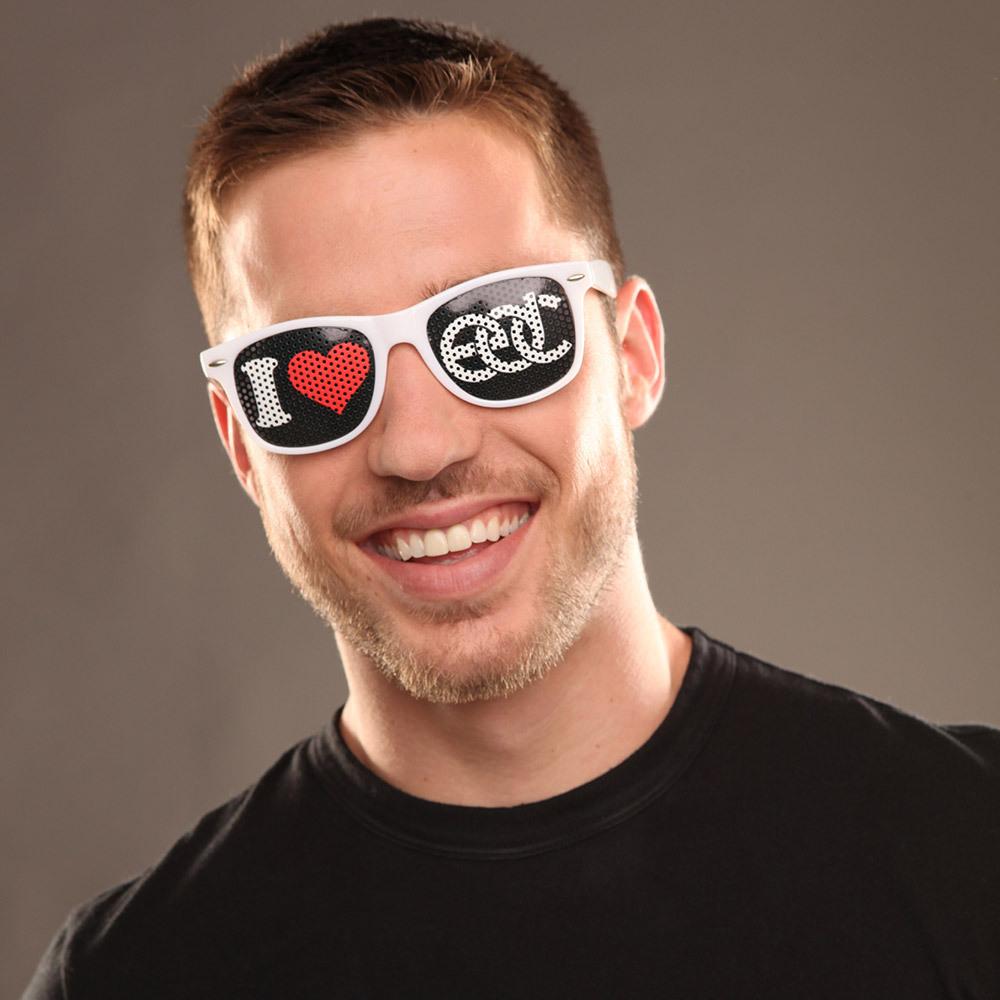 I Heart EDC Sunglasses White