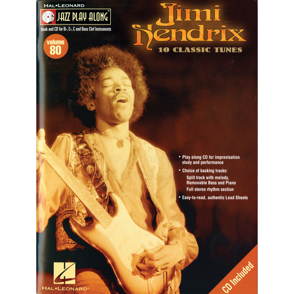 Jimi Hendrix Jazz Play Along Songbook, Vol. 80 with CD