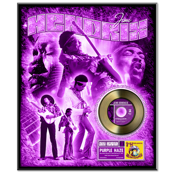 Jimi Hendrix – Purple Haze  Framed Gold (45RPM) Record