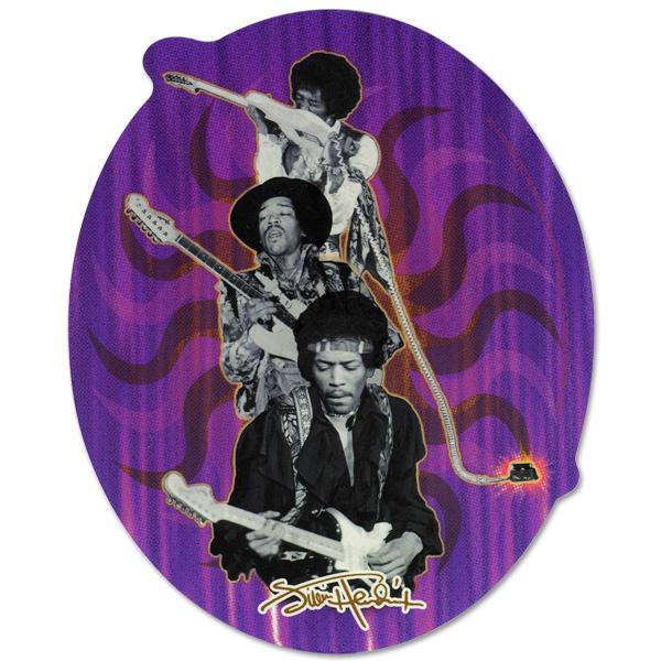 Jimi Hendrix Photo Collage Sticker