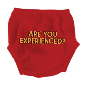 Are You Experienced Red Diaper Cover