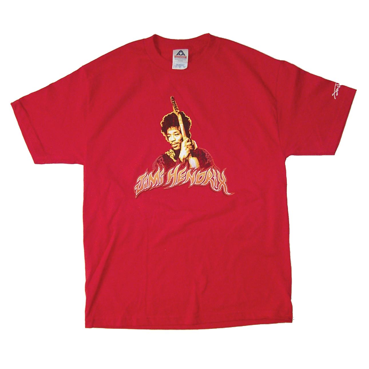 Jimi Hendrix Flame Name T-Shirt