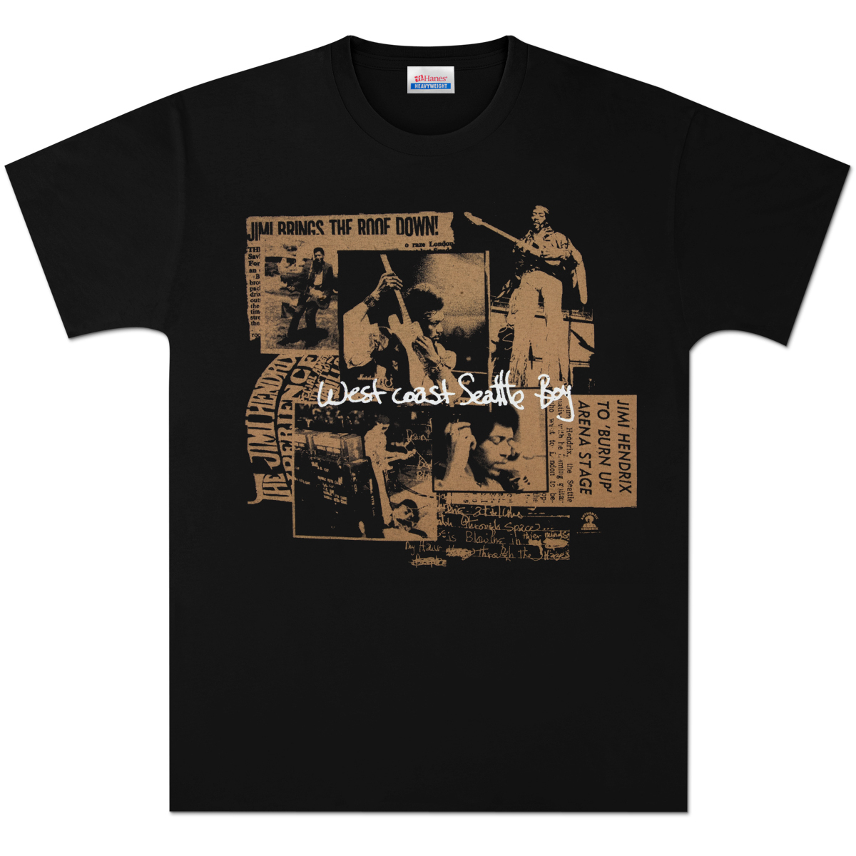 Jimi Hendrix Seattle Boy T-Shirt (Gold)