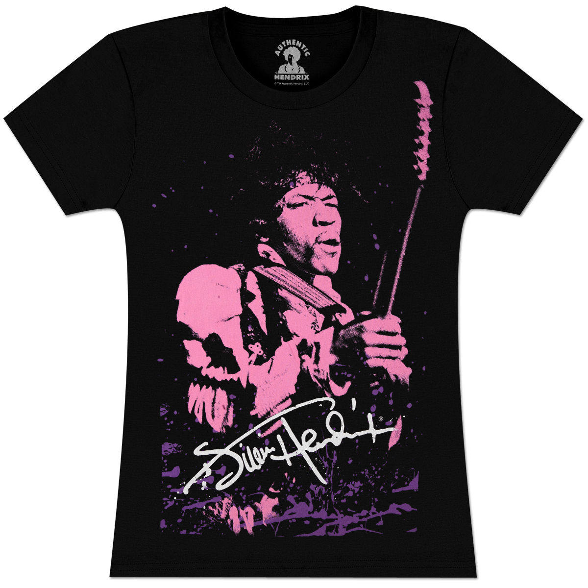 Jimi Hendrix - Silhouette Juniors T-Shirt