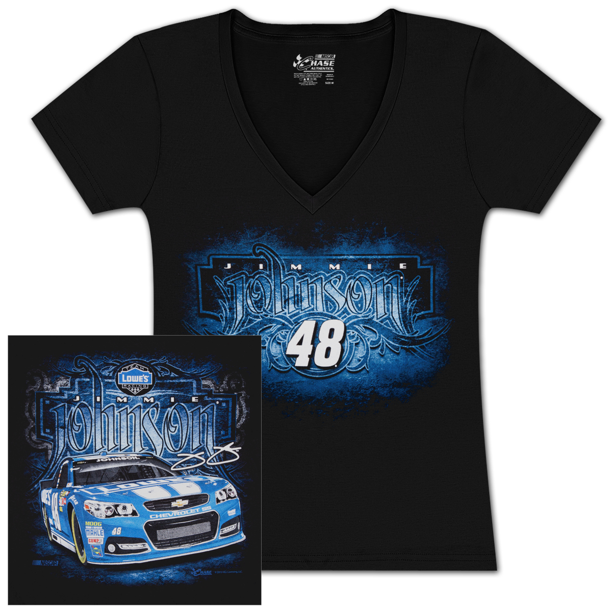 Jimmie Johnson #48 Lowes Fabricator Ladies T-shirt