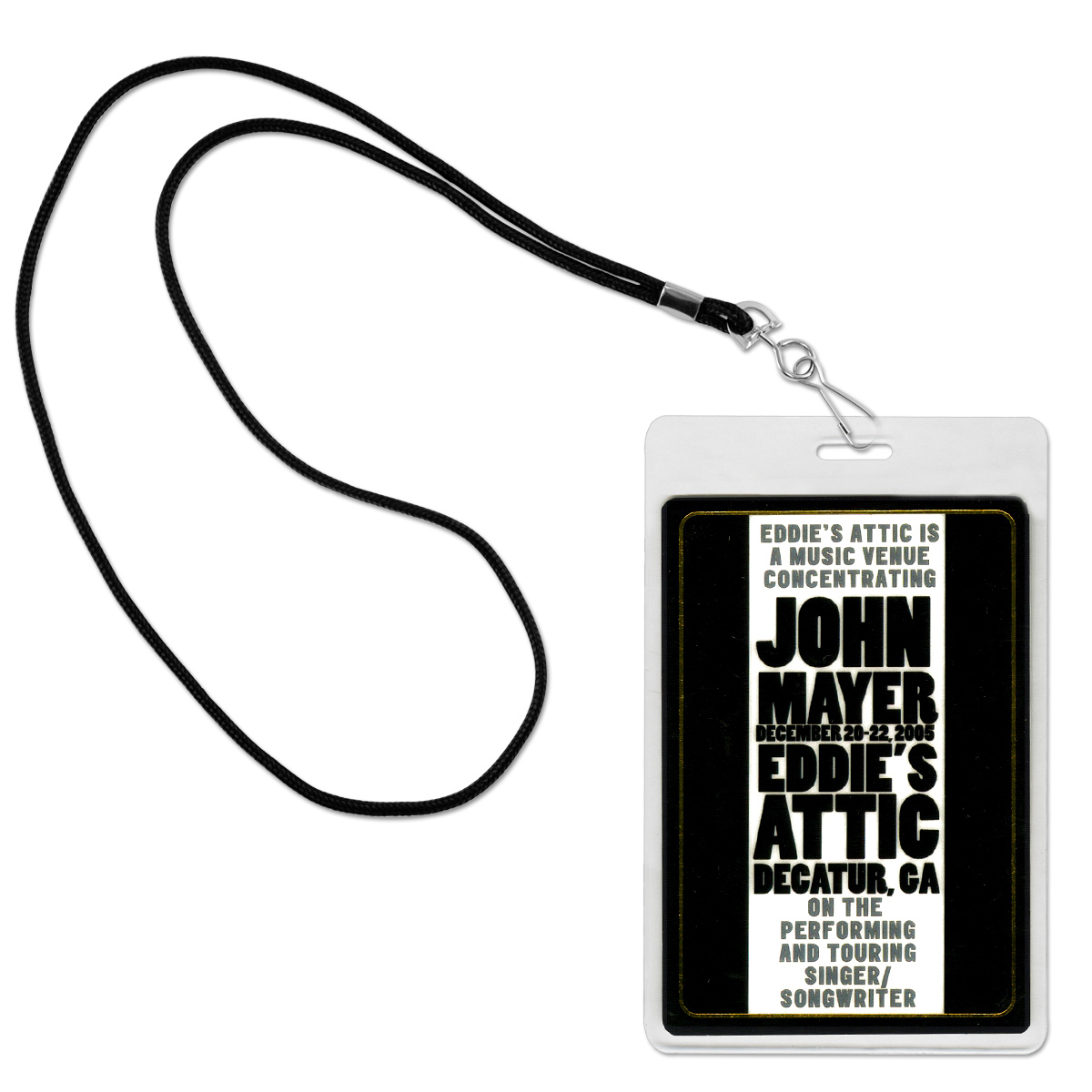 John Mayer - Eddie's Attic Laminate