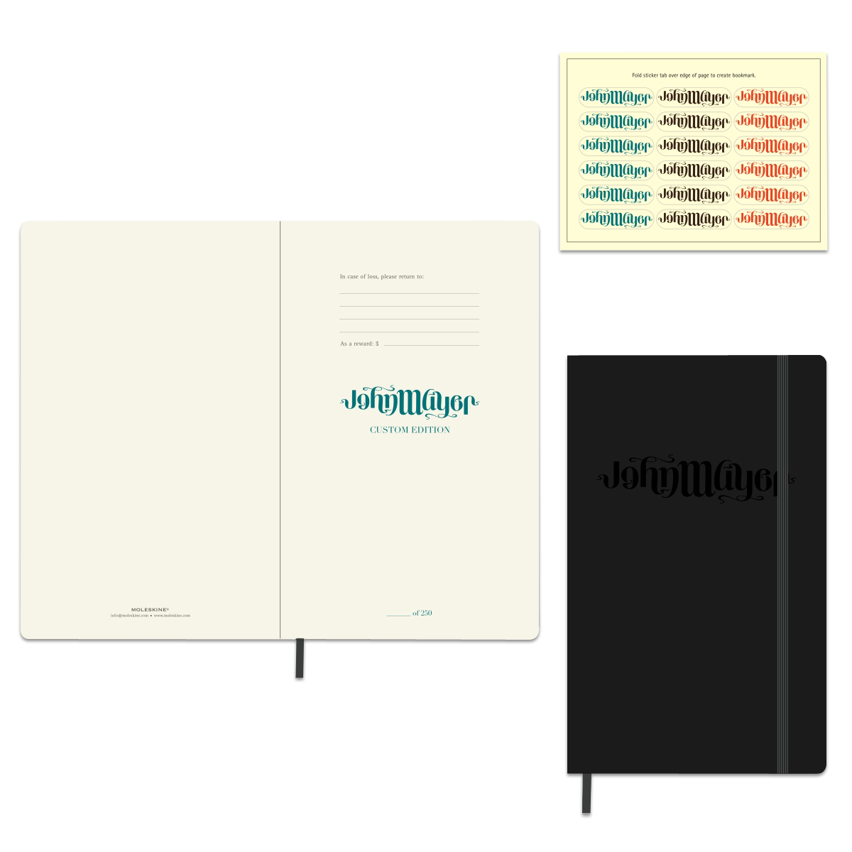 Moleskine Ambigram Logo Notebook (Large, Hardcover)