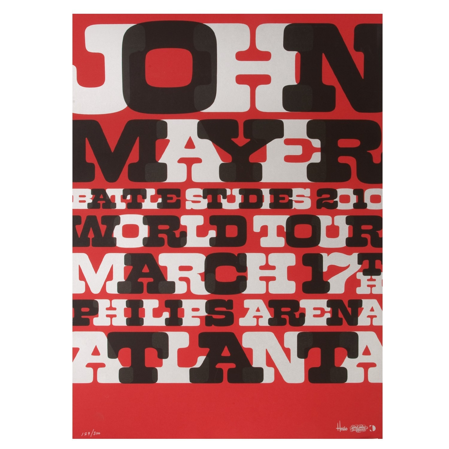 John Mayer Atlanta Serigraph by House Industries