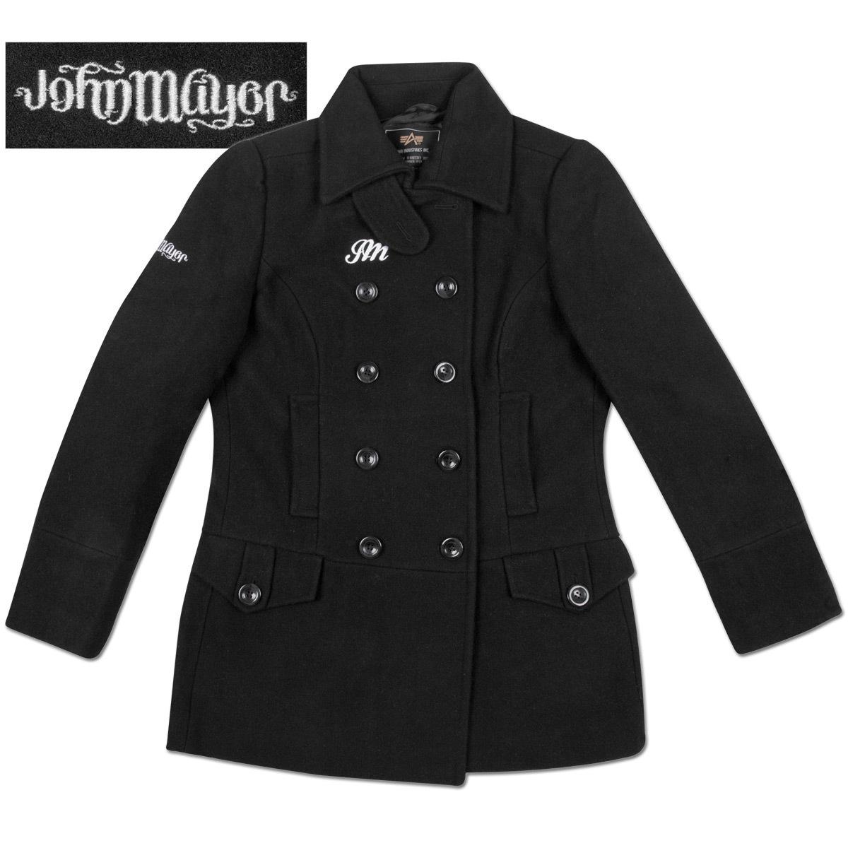 John Mayer Ladies Ambigram Peacoat