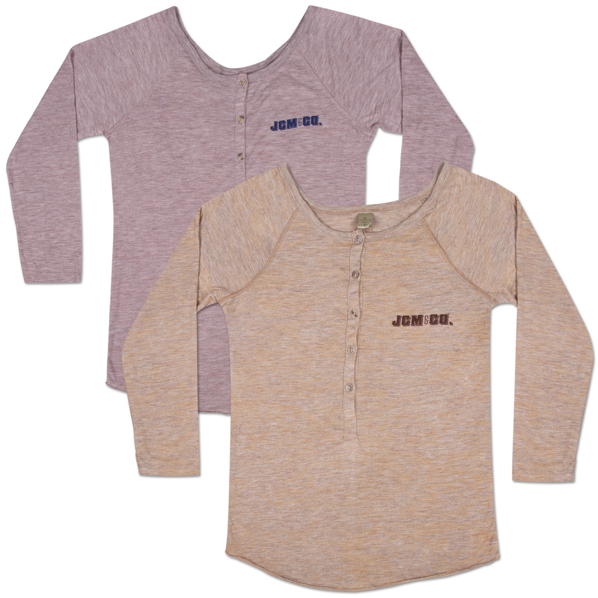 JCM & Co. Women's 3/4 Henley