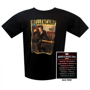 John Mellencamp  Words and Music Tour T-Shirt with Summ