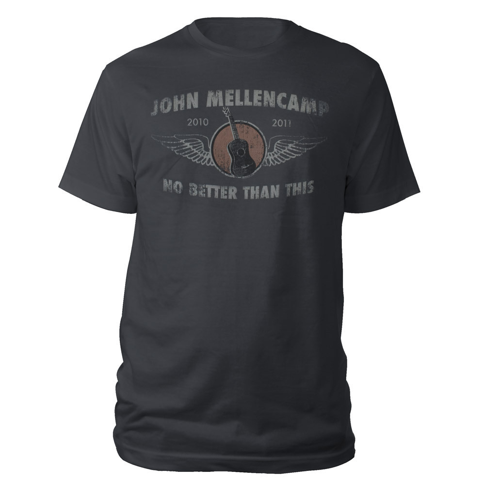 John Mellencamp 2010-2011 Guitar Wings Tour T-Shirt