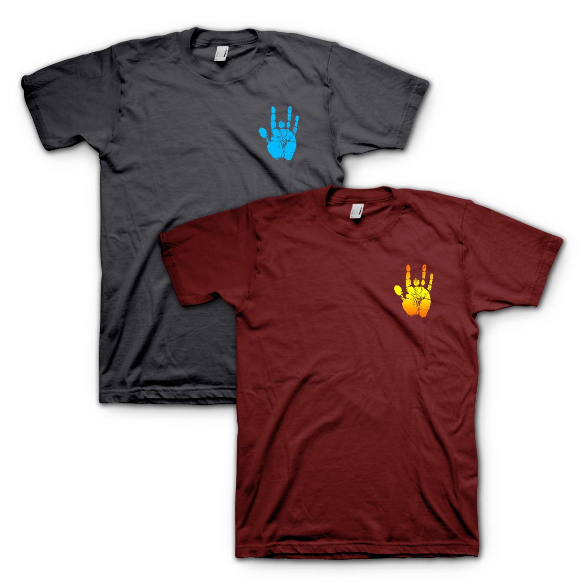 Jerry Garcia Short Sleeve Handprint T-Shirt