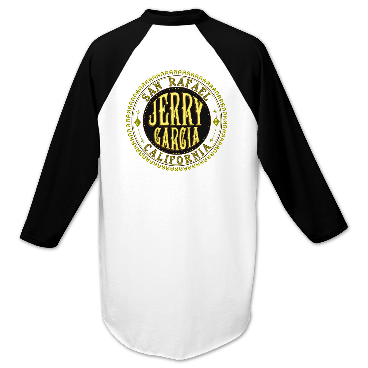 Jerry Garcia Baseball T-Shirt in Black