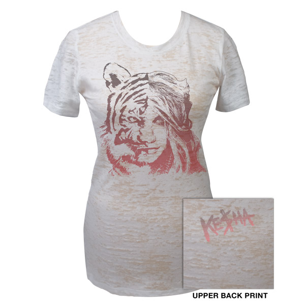 Ke$ha Tiger Burnout Junior Tee