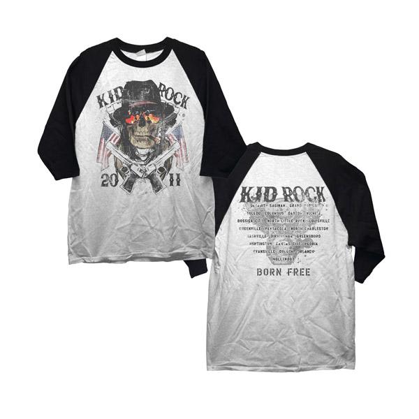 Kid Rock Skull Raglan