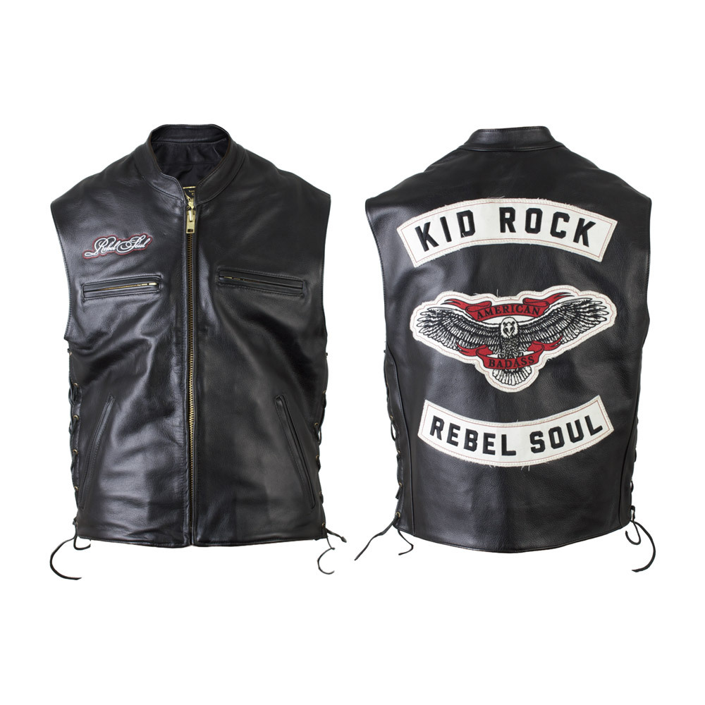 Kid Rock Rebel Soul Leather Vest