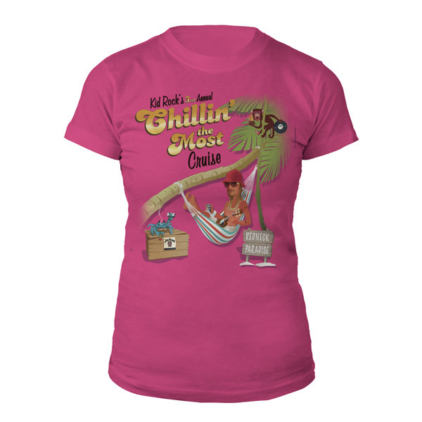 Kid Rock 2012 Chillin' The Most Cruise Ladies Tee