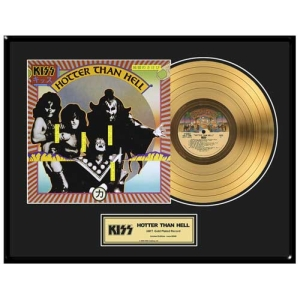 Hotter Than Hell Framed Gold LP