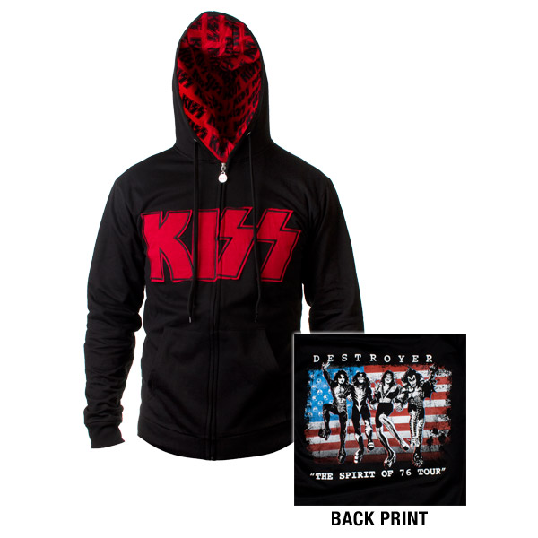 The Spirit Of '76 KISS Destroyer Zip Up Hooded Sweatshirt