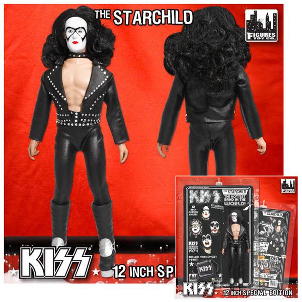 """KISS """"12 Starchild Bandit Mask Action Figure"""
