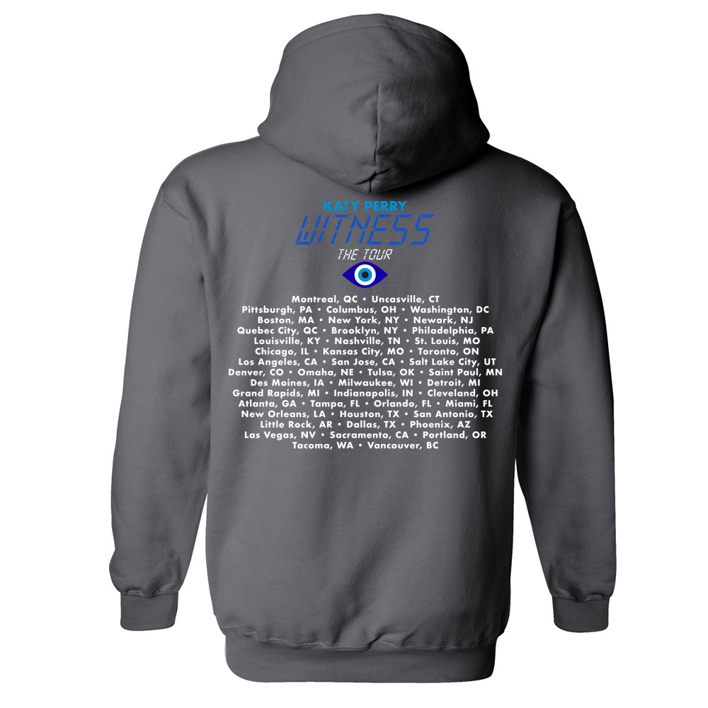 Katy Perry Tour Witness Charcoal Hoodie