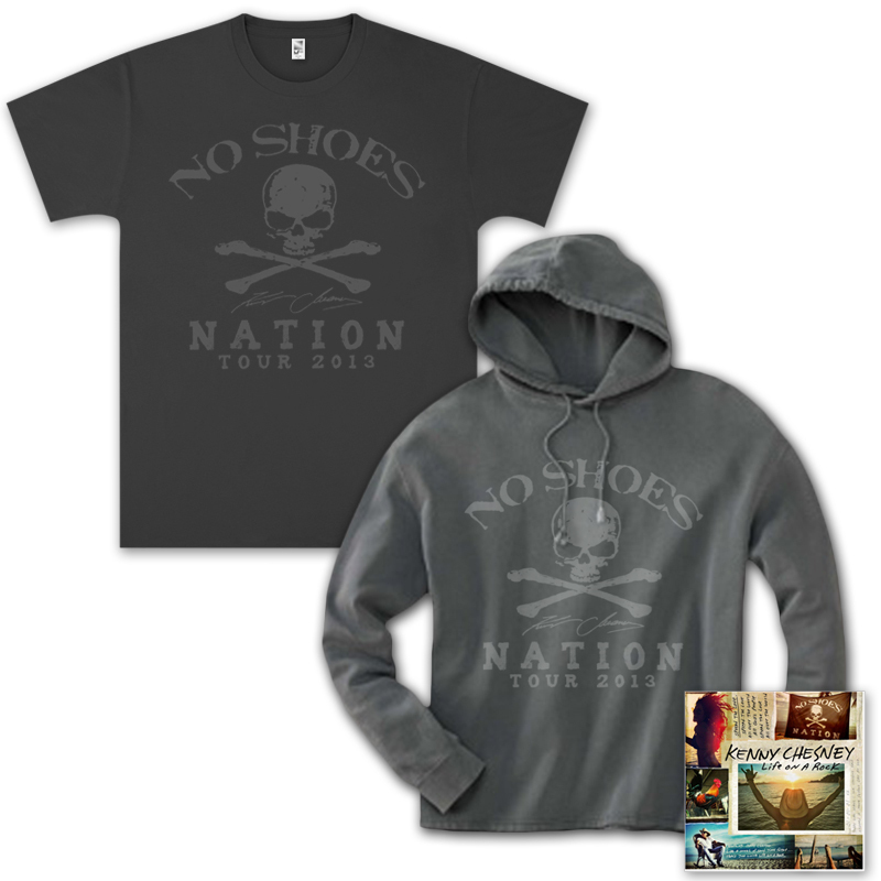 Kenny Chesney Life On A Rock CD/T-Shirt/Hoodie Bundle