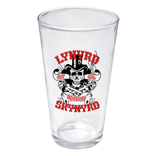 Lynyrd Skynyd God and Guns Pint Glass