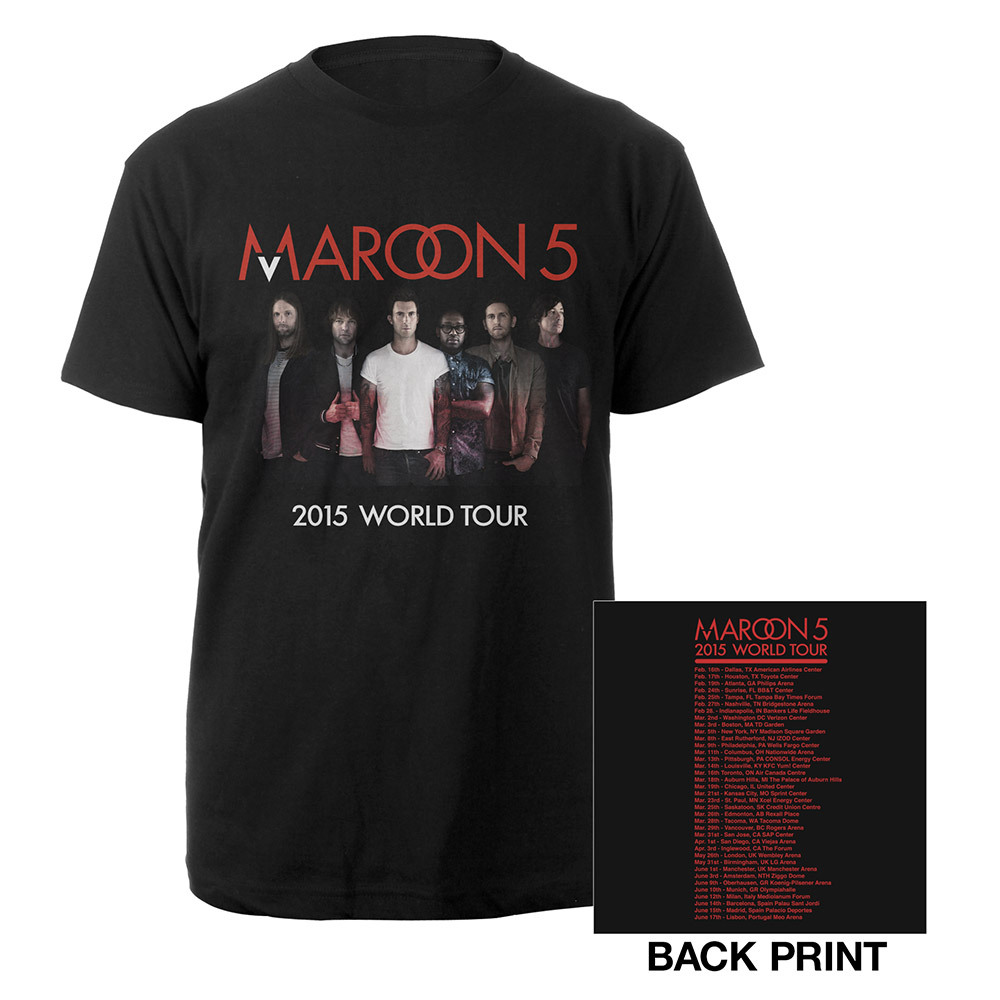 Official Maroon V World Tour Tee