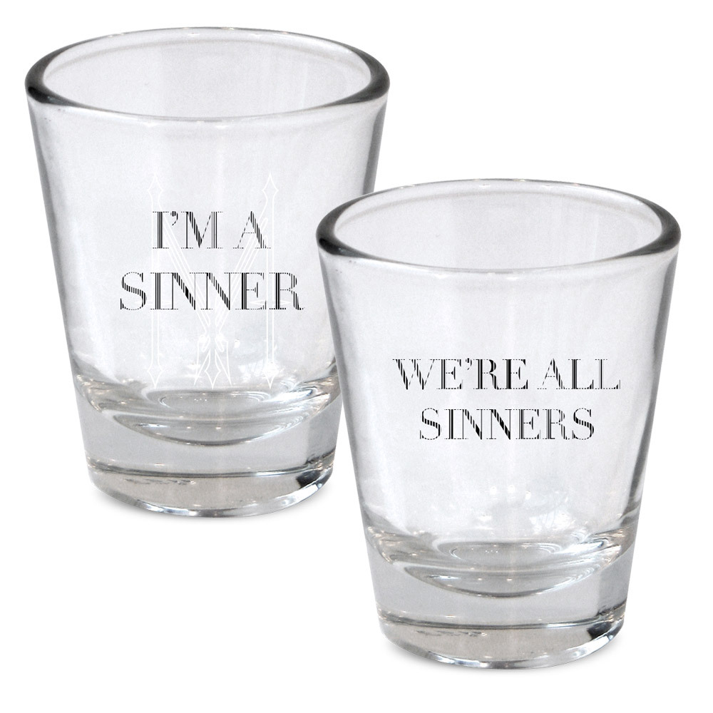 Madonna I'm a Sinner Shot Glass