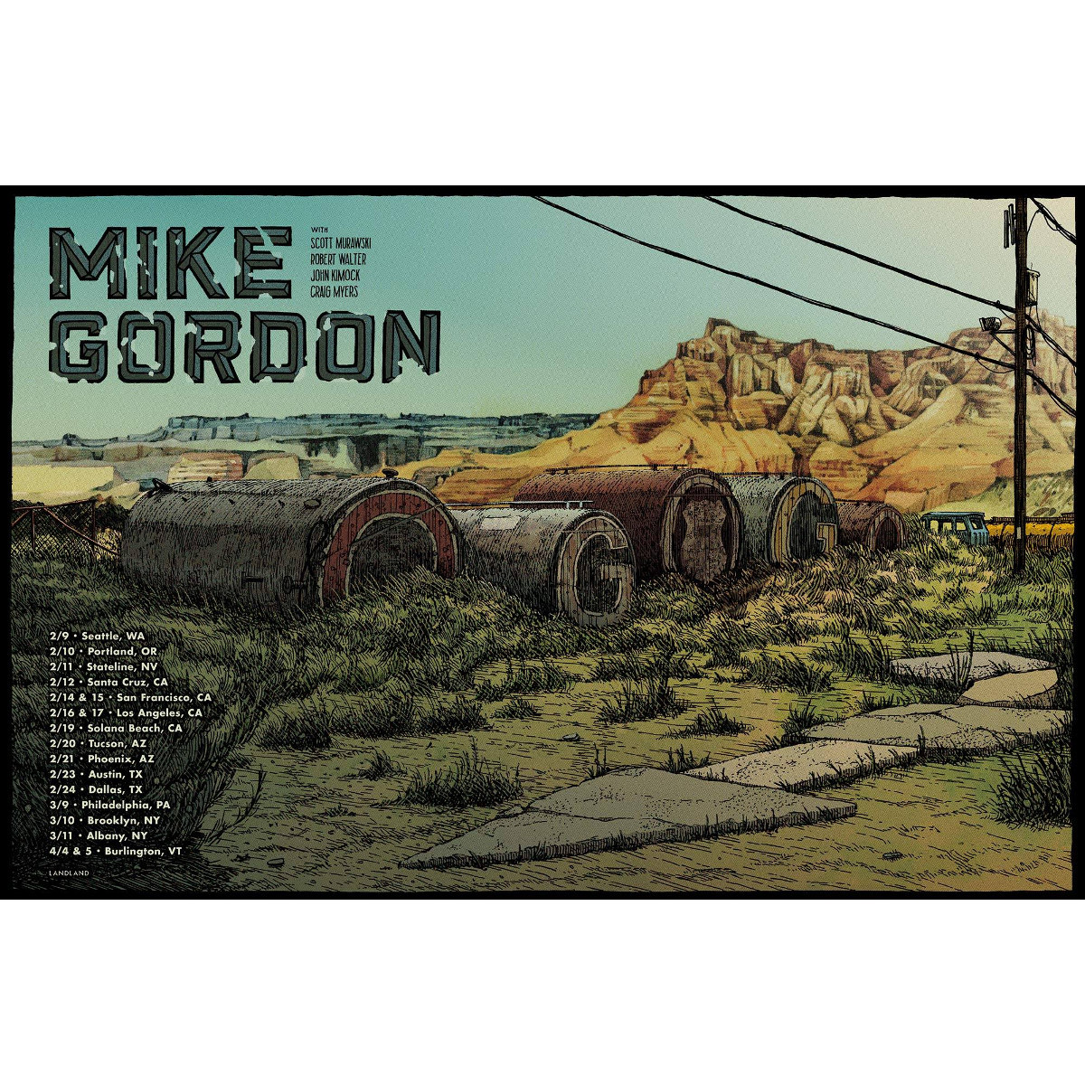 Mike Gordon Winter 2018 Tour Poster