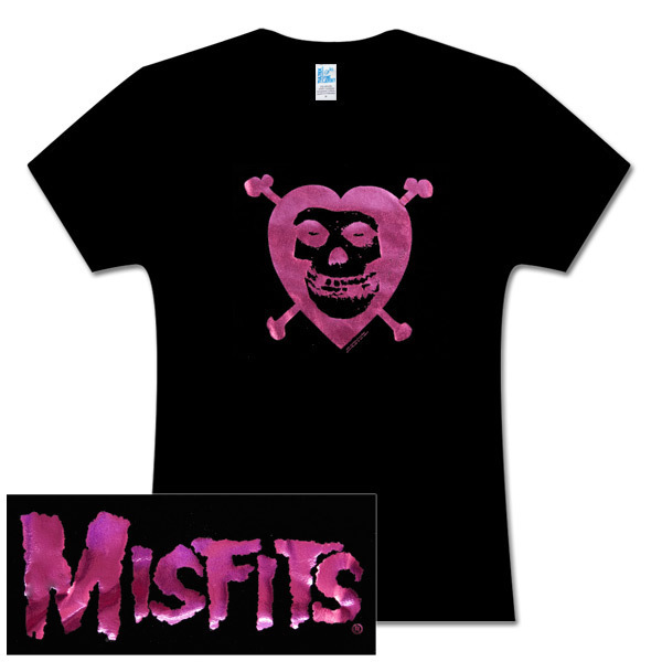 Misfits Heart & Crossbones Black Fitted Women's Tee