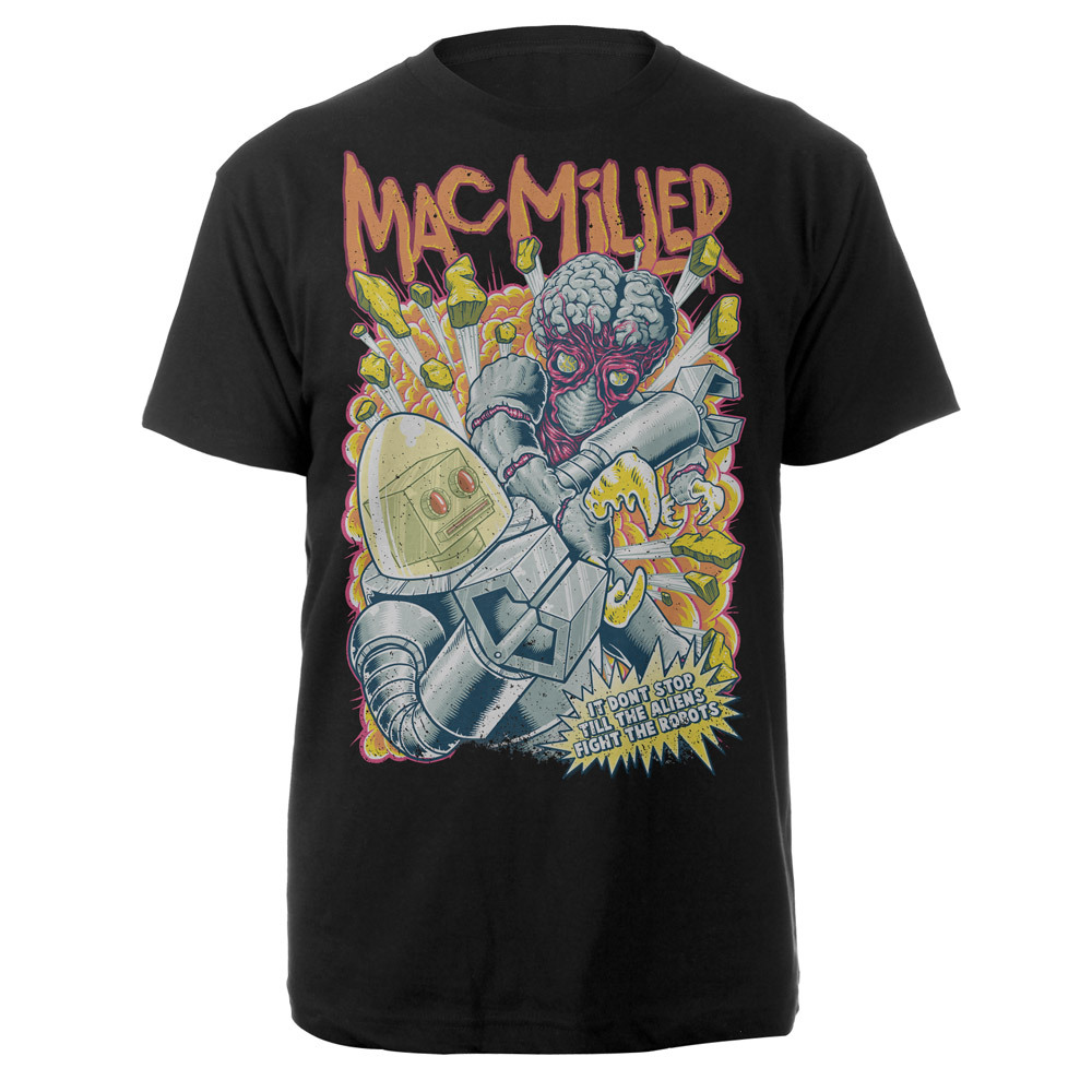 Mac Miller Aliens and Robots Shirt