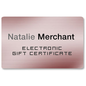 Natalie Merchant - Electronic Gift Certificate