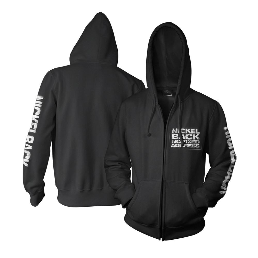 No Fixed Address Zip-Up Hooded Sweatshirt
