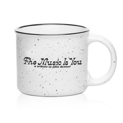 John Denver 'The Music Is You' White Camper Mug