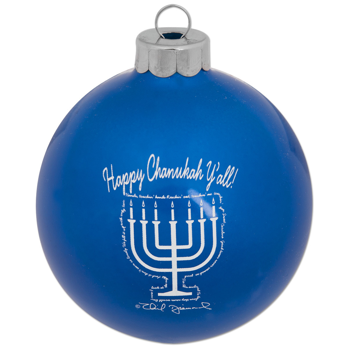 Happy Chanukah Y'all Menorah Ornament