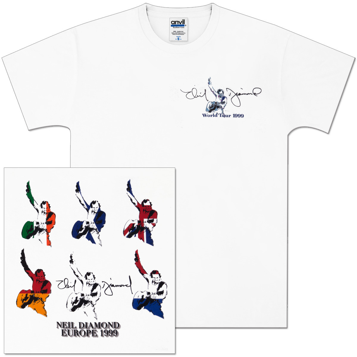 World Tour ' 99 European Flag Tee
