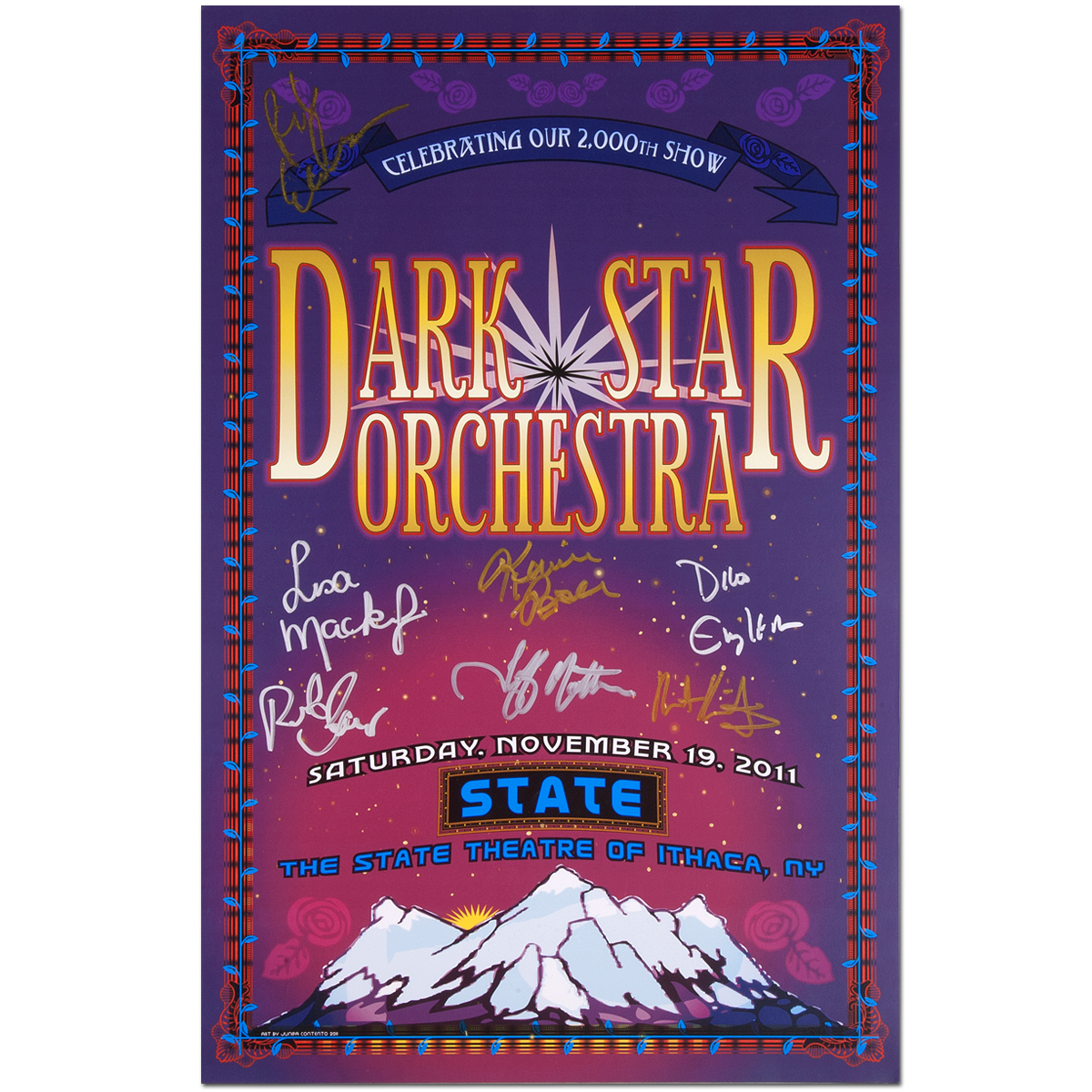 Dark Star Orchestra 2011 Ithaca, NY Signed Poster