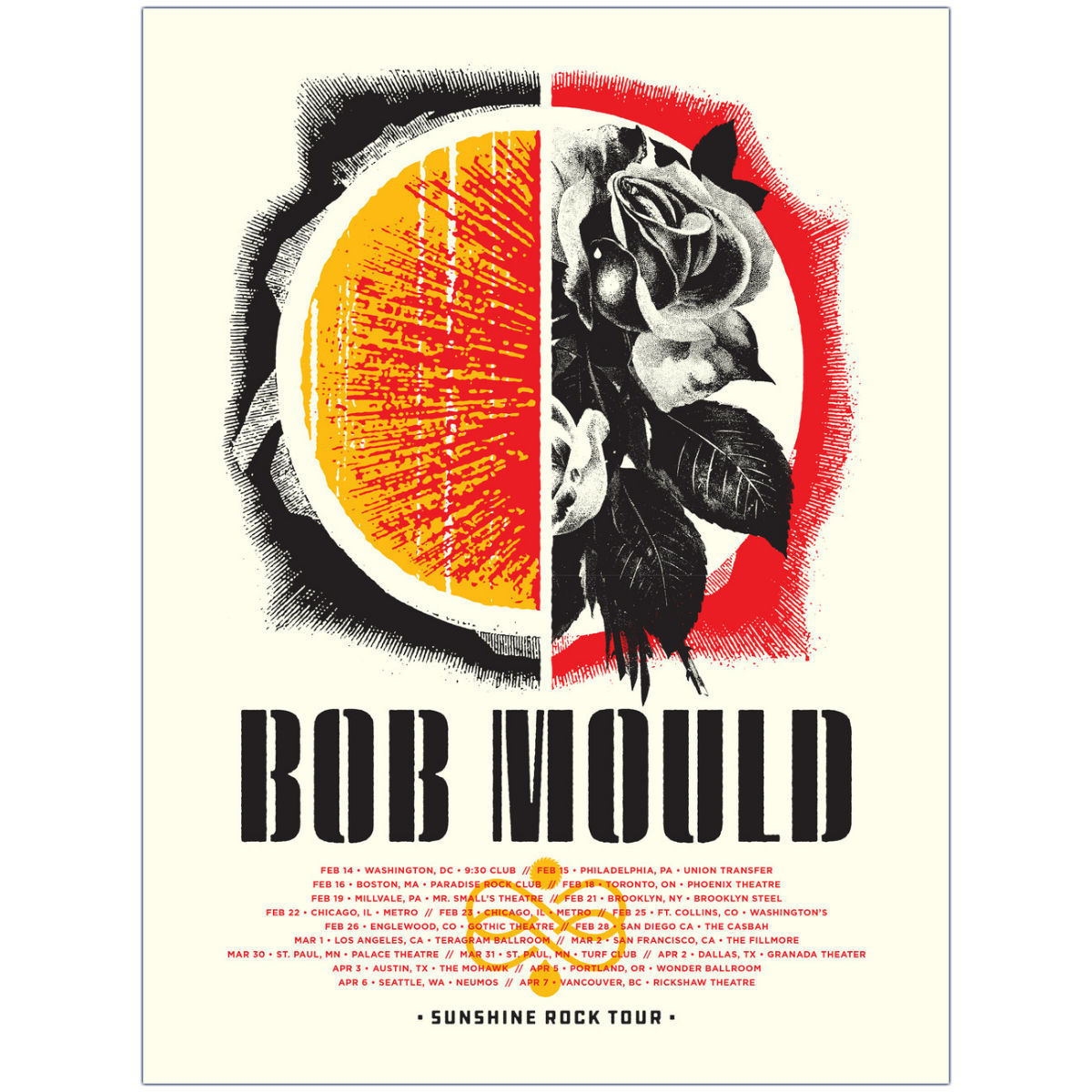 Sunshine Rock Tour Poster