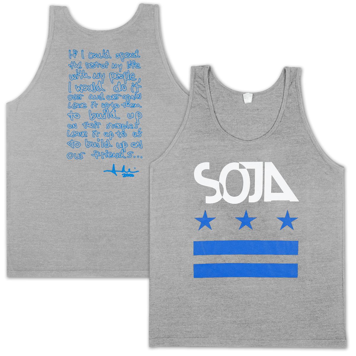 SOJA - Stars & Bars Tri-Grey Tank