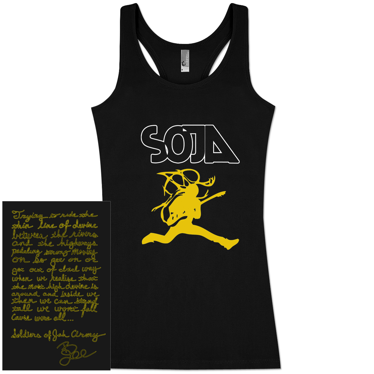 SOJA - Bobby Lee Jumpman Ladies Black Tank