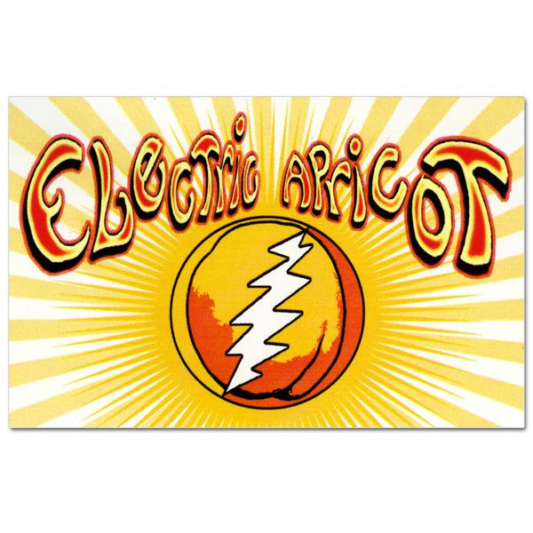Electric Apricot Square Sticker
