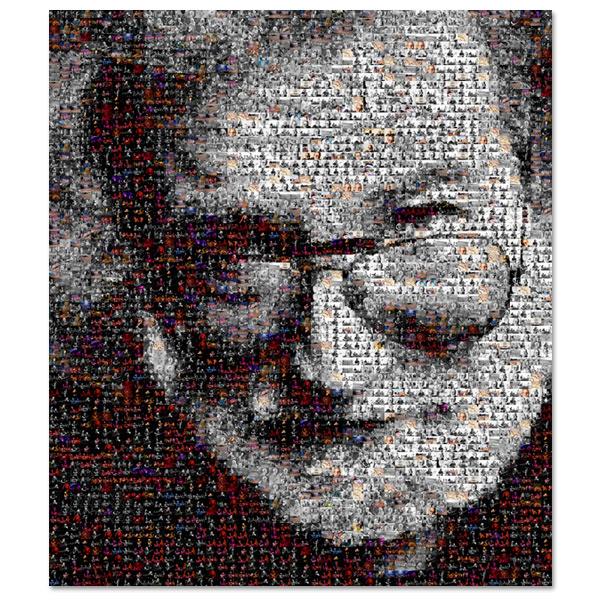 ''Touch of Grey'' Jerry Garcia Mosaic Print