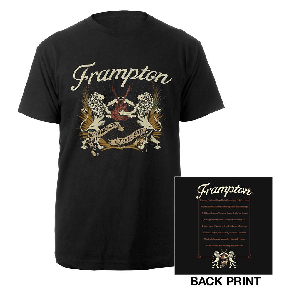 Peter Frampton Lions & Guitars Tour 2014 Tee